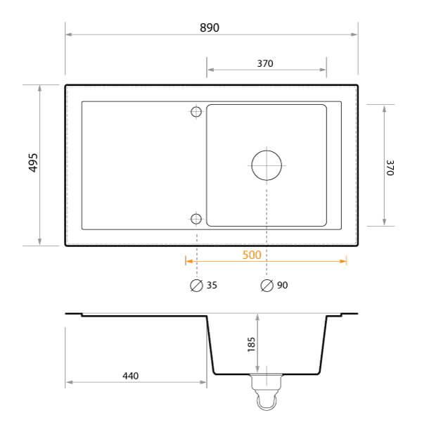 technische zeichnungen primagran. Black Bedroom Furniture Sets. Home Design Ideas